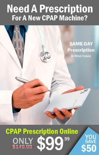 Get a CPAP Prescription Online - $99.99