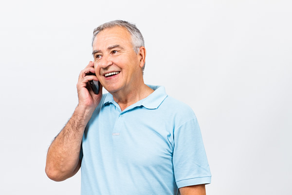 Man calling to buy cpap supplies