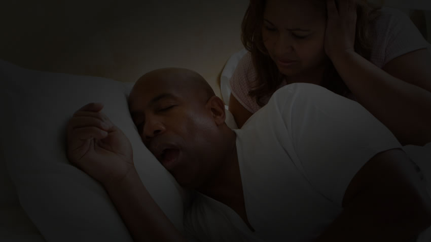 Husband snoring so loud that wife can't sleep