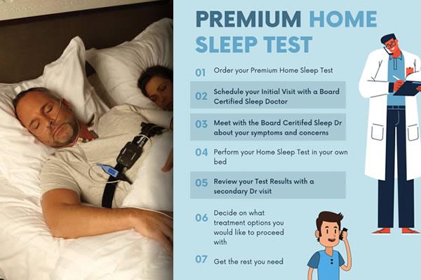 man taking home sleep test
